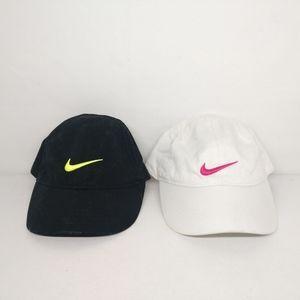 Nike 2 LOT Toddler Black & White (4-6X) Hat Caps